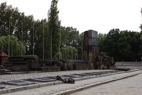 Monument at Birkenau, a few hundred feet from the gas chambers.